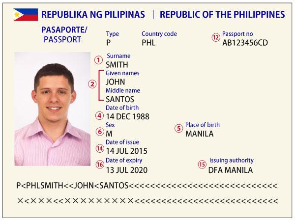 フィリピンパスポート見本