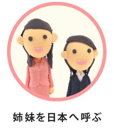 姉妹を日本へ呼ぶ