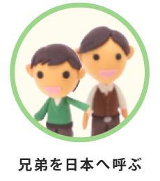 兄弟を日本へ呼ぶ