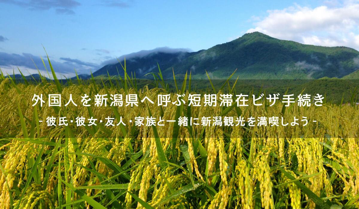 外国人を新潟へ呼ぶための短期滞在ビザ手続き