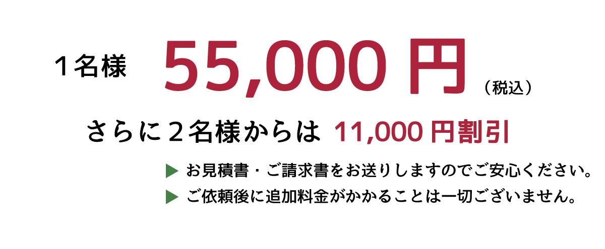 短期滞在ビザ申請1名様40,000円(税別)